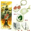 4-Piece Attack On Titan Cosplay Keychain Set