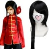 Black 100cm Axis Powers Hetalia China Wang Yao Cosplay Wig