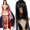 Black 120cm One Piece Boa Hancock Cosplay Wig