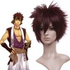 Brown 30cm Hakuouki Nagakura Shinpachi Nylon Cosplay Wig