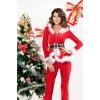 Elegant Santa Women Christmas Holiday Suit