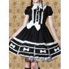 Black Short Sleeves Classic Lolita Dress