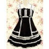 Black Sleeveless Lace Classic Lolita Dress