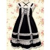 Black Sleeveless White Lace Classic Lolita Dress
