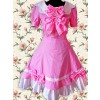 Fuchsia Red Short Sleeves Bow Sweet Lolita Dress
