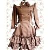 Chocolate Long Sleeves Ruffles Sweet Lolita Dress
