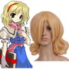 Light Gold 40cm Tonhou Project Alice Margatroid Cosplay Wig