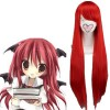 Red 80cm Tonhou Project Koakuma Nylon Cosplay Wig