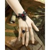 Rococo Butterfly Rose Lolita Bracelet And Ring Set